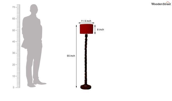 Tendril Red Floor Lamp-4