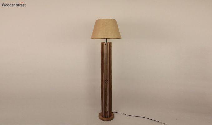Buy Ventus Wooden Floor Lamp In India Wooden Street