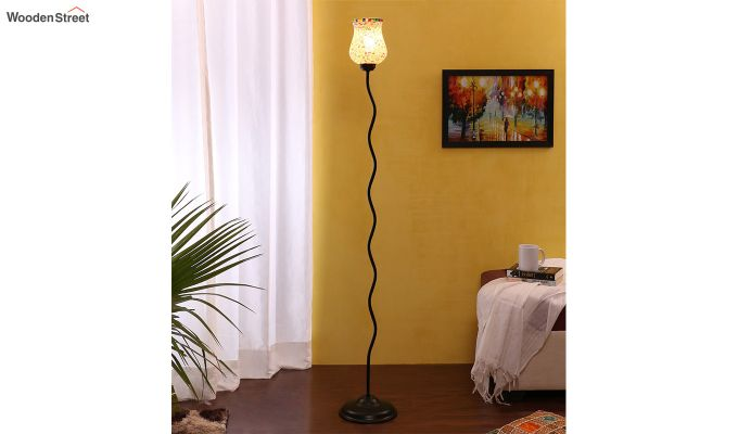 Vine Stained Grains Glass Floor Lamp-1