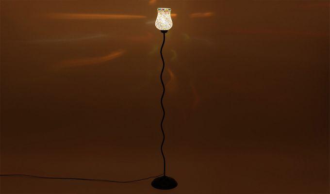 Vine Stained Stars Glass Floor Lamp-4