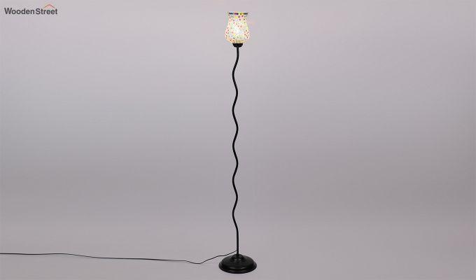 Vine Stained Stars Glass Floor Lamp-5