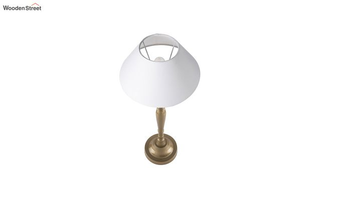 Imperial Gold Brushed White Cone Table Lamp-2