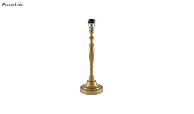 Imperial Gold Brushed White Cone Table Lamp-4
