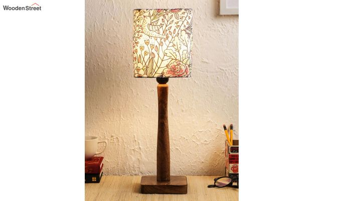 Abstract Floral Table Lamp-1