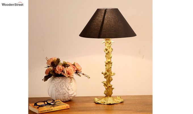 Bellagio Table Lamp with Charcoal Shade-2