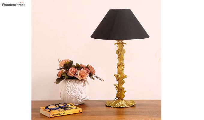 Bellagio Table Lamp with Charcoal Shade-1