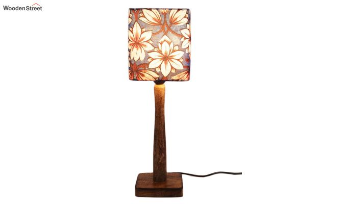 Blue Floral Table Lamp-2