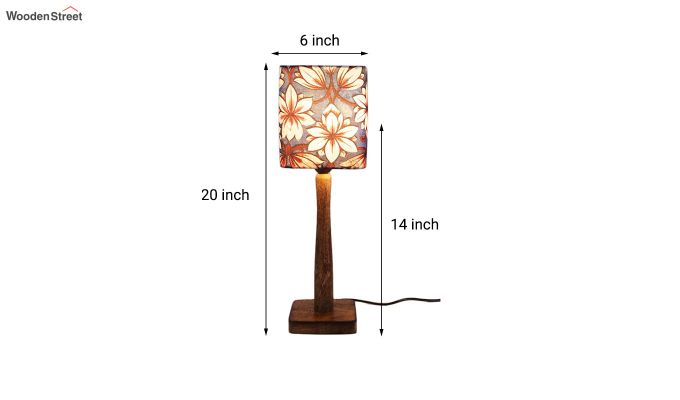 Blue Floral Table Lamp-3