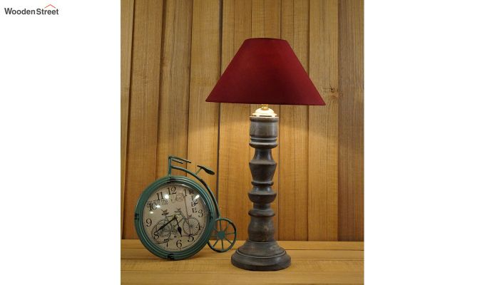 Candle Maroon Table Lamp-1