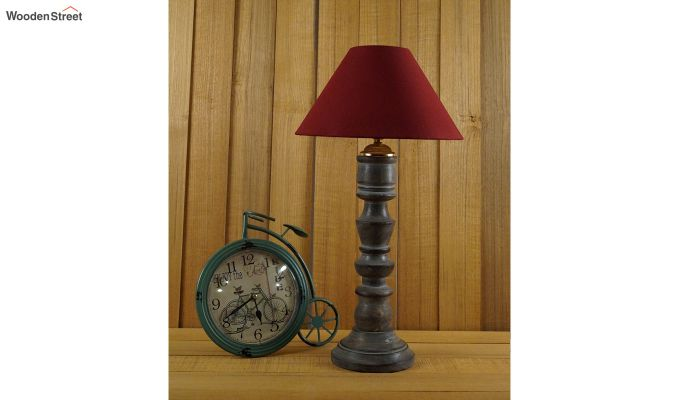 Candle Maroon Table Lamp-2
