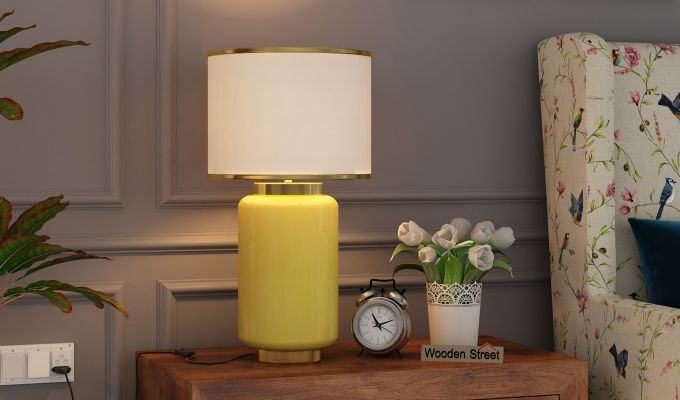 Ceres Metal Yellow Table Lamp-1