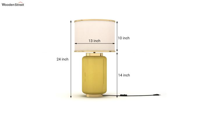 Ceres Metal Yellow Table Lamp-3
