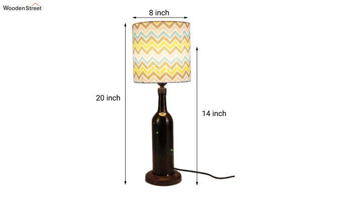 Chevron Bottle Table Lamp-3