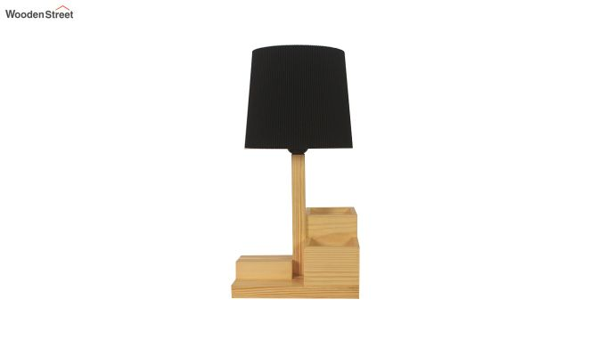 Classic Wooden Table Lamp with Desk Organiser-4