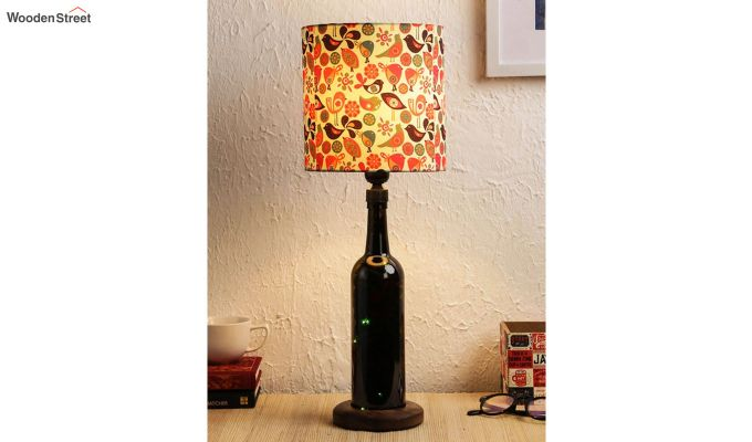 Colourful Bird Bottle Table Lamp-1