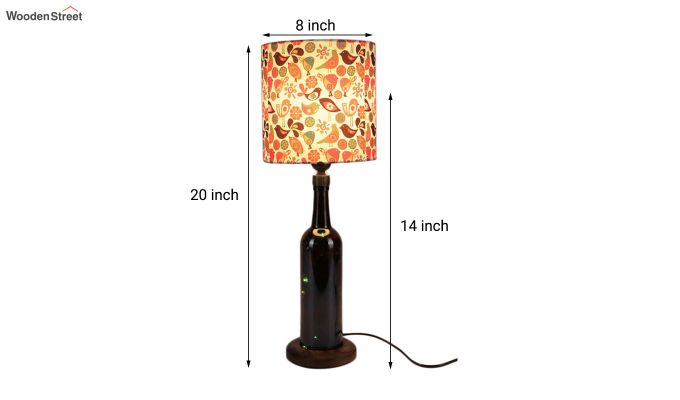 Colourful Bird Bottle Table Lamp-3