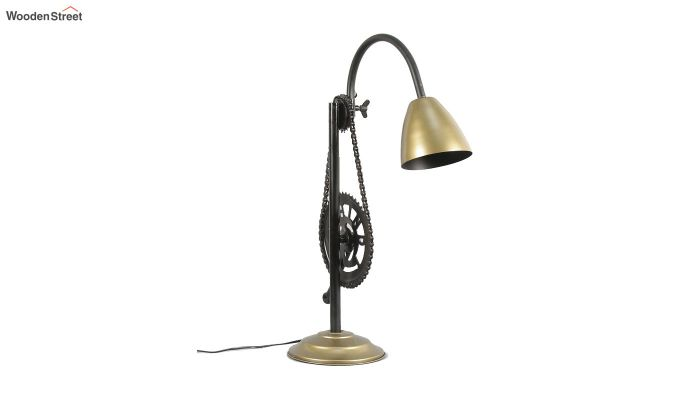 Gold Clockwork Iron Study Lamp by Grated Ginger-4