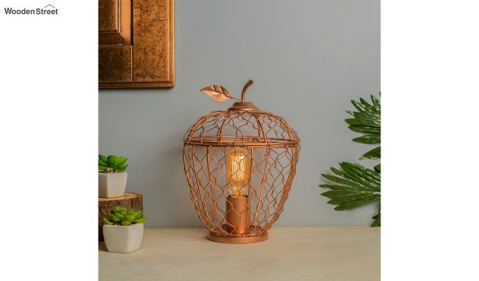Hollman Copper Apple Cage Table Lamp-1