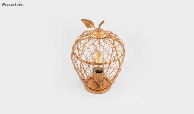 Hollman Copper Apple Cage Table Lamp-3