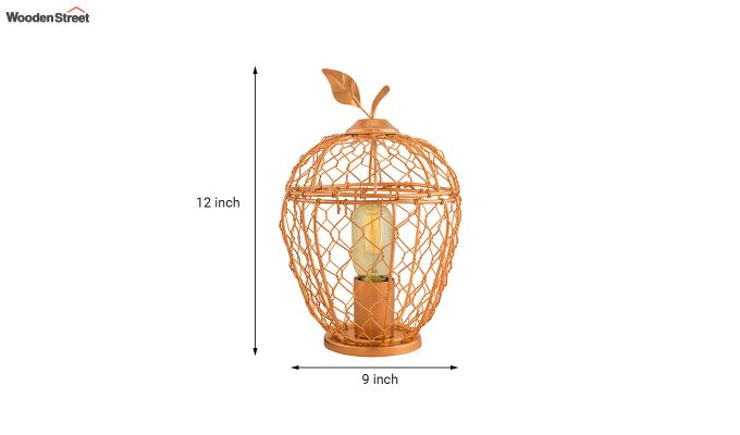 Hollman Copper Apple Cage Table Lamp-4