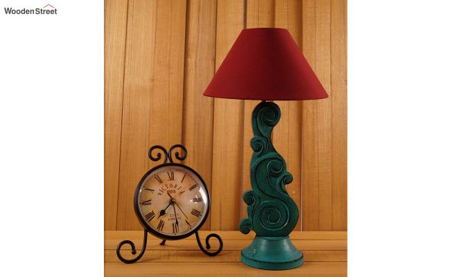 Holly Maroon Table Lamp-2
