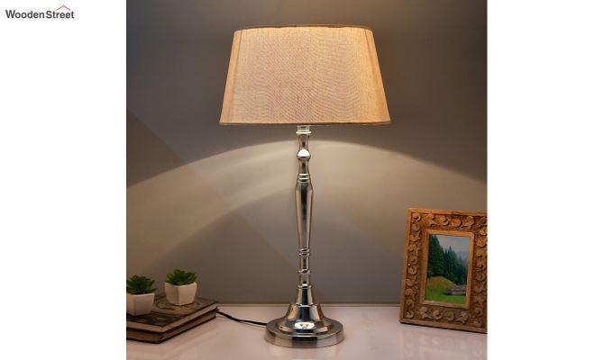 Imperial Nickel Brushed Khadi Table Lamp-1