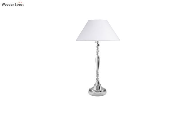 Imperial Nickel Brushed White Table Lamp-2