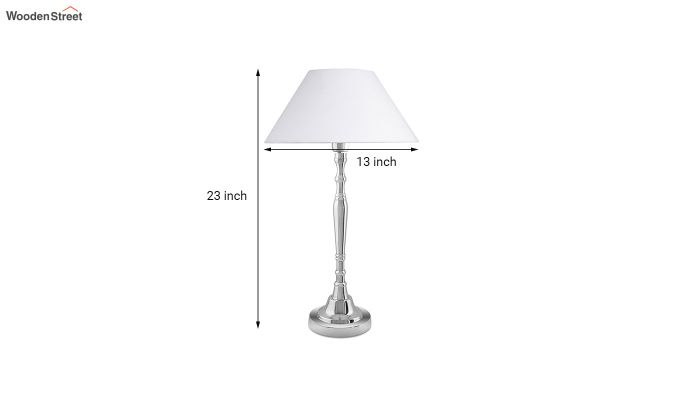 Imperial Nickel Brushed White Table Lamp-4