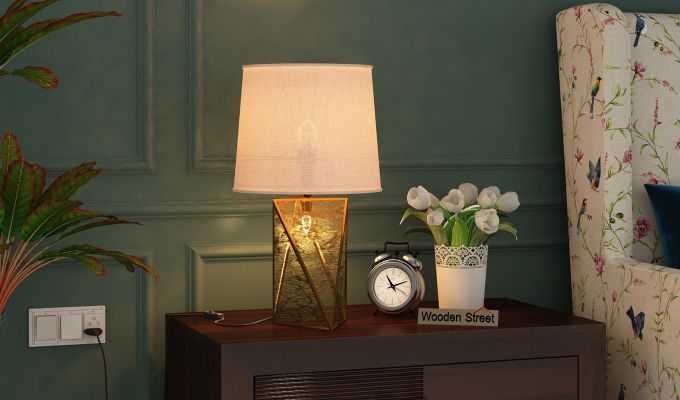 Jewel Antique Glass Table Lamp-1