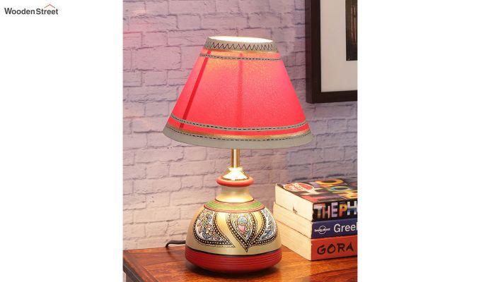 Madhubani Multi-Coloured Terracotta Table Lamp-1