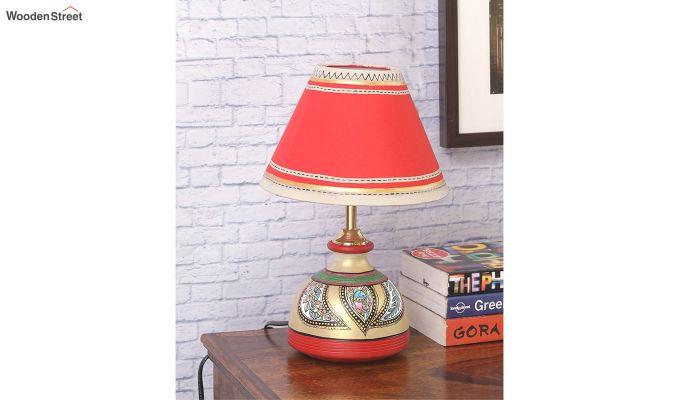 Madhubani Multi-Coloured Terracotta Table Lamp-2