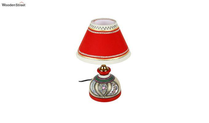 Madhubani Multi-Coloured Terracotta Table Lamp-4