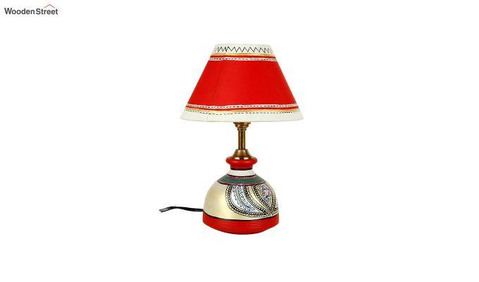 Madhubani Multi-Coloured Terracotta Table Lamp-5