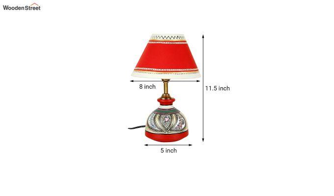 Madhubani Multi-Coloured Terracotta Table Lamp-6