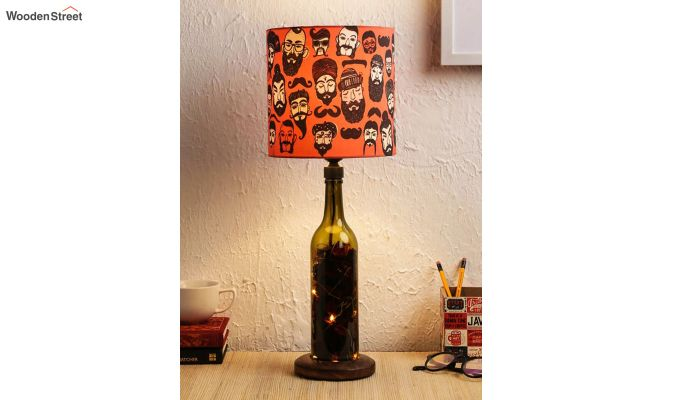 Moochh Wala Bottle Table Lamp-1