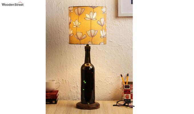 Mustard Flora Bottle Table Lamp-1