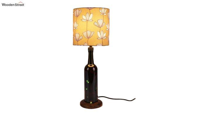 Mustard Flora Bottle Table Lamp-2