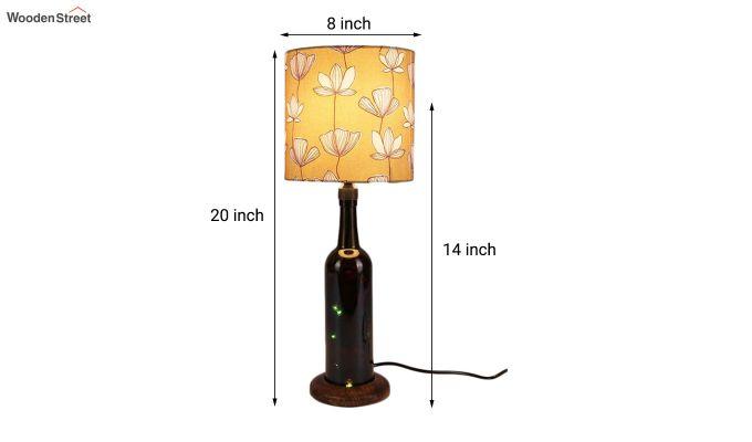 Mustard Flora Bottle Table Lamp-3