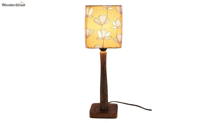 Mustard Floral Table Lamp-2