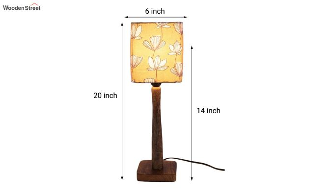 Mustard Floral Table Lamp-3