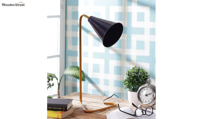 Navy Piper Iron Study Lamp by Grated Ginger-2