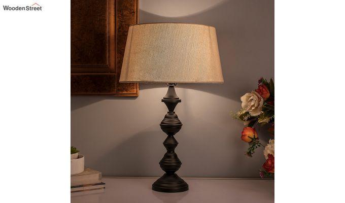 Nordic Waterdrop Matt Black Khadi Table Lamp-1