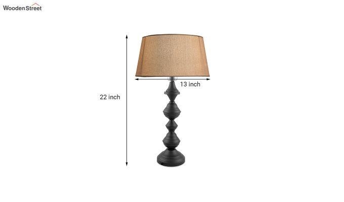 Nordic Waterdrop Matt Black Khadi Table Lamp-3