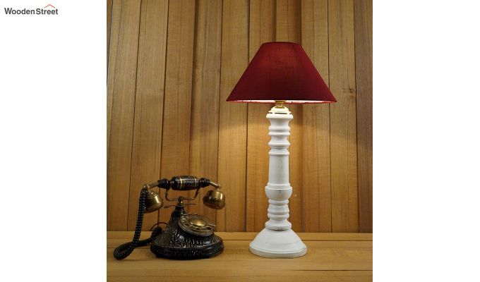 Order Maroon Table Lamp-1