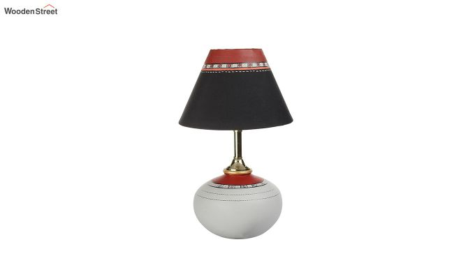 Red Leaf Terracotta Pot Shaped Table Lamp-5