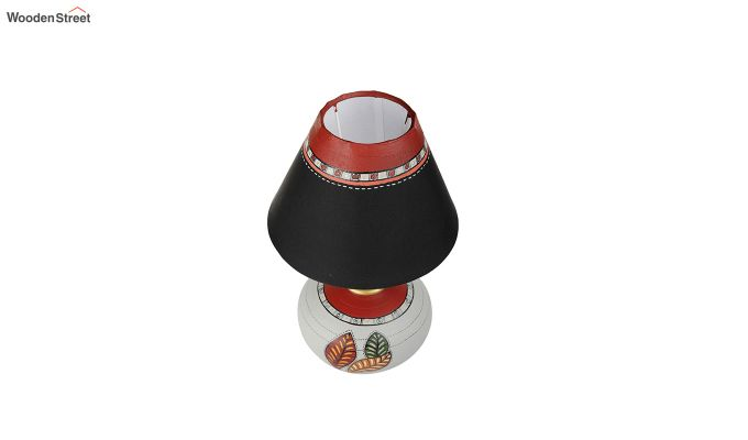 Red Leaf Terracotta Pot Shaped Table Lamp-6