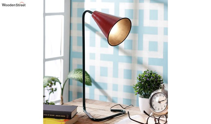 Red Piper Iron Study Lamp by Grated Ginger-1