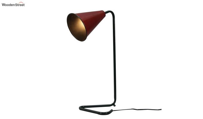 Red Piper Iron Study Lamp by Grated Ginger-3