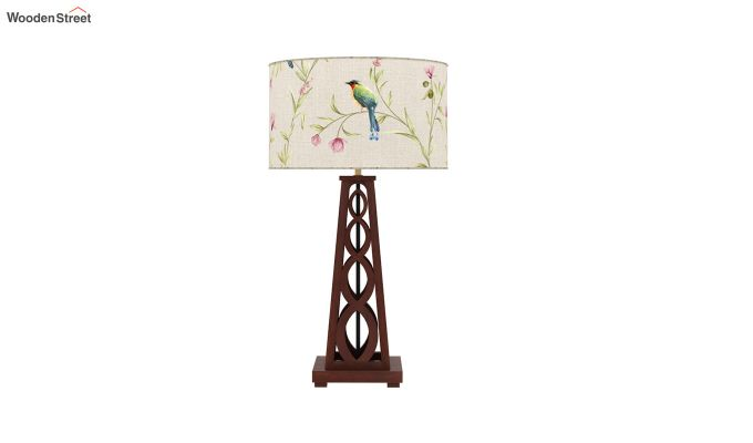 Spiro Table Lamp (Walnut Finish, Cream Robins)-3