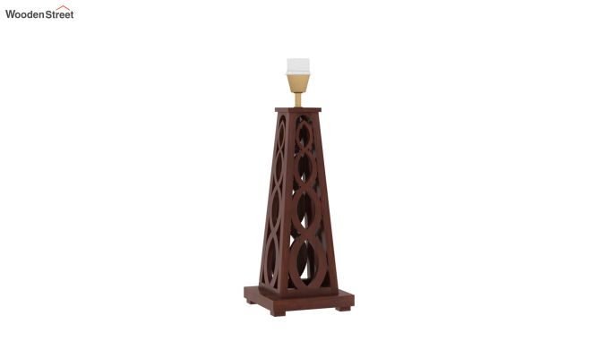 Spiro Table Lamp (Walnut Finish, Cream Robins)-4